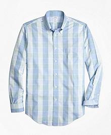 Non-Iron Regent Fit Yarn-Dyed Plaid Sport Shirt