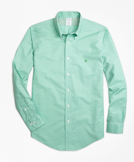Non-Iron Regent Fit Heathered Oxford Sport Shirt