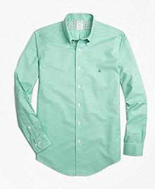 Non-Iron Regent Fit Heathered Oxford Sport Shirt