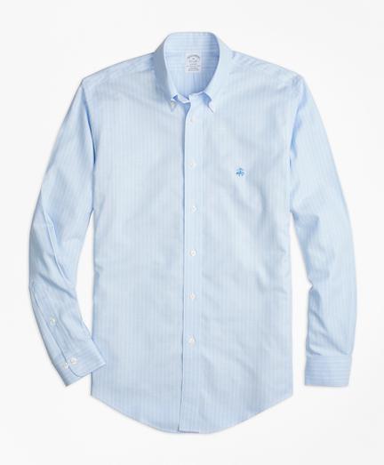 Non-Iron Regent Fit Oxford Stripe Sport Shirt