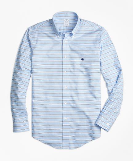 Non-Iron Regent Fit BB#1 Horizontal Stripe Sport Shirt