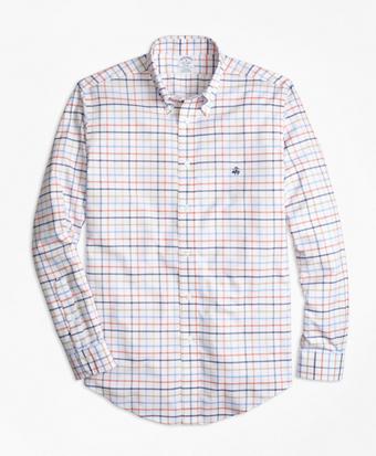 Non-Iron Regent Fit Multi-Windowpane Sport Shirt