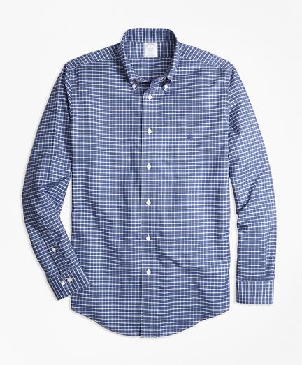 Non-Iron Regent Fit Heathered Tattersall Sport Shirt