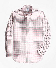 Regent Fit Oxford  Large Check Sport Shirt