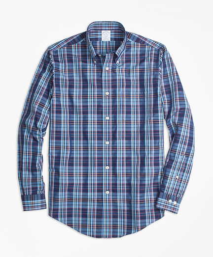 Non-Iron Regent Fit Multi-Plaid Sport Shirt