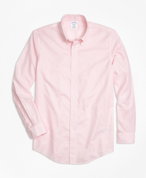 Non-Iron Regent Fit Oxford Sport Shirt Pink