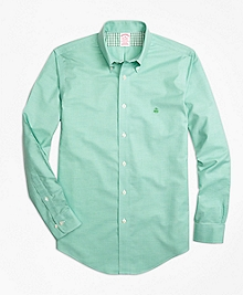 Non-Iron Madison Fit Heathered Oxford Sport Shirt