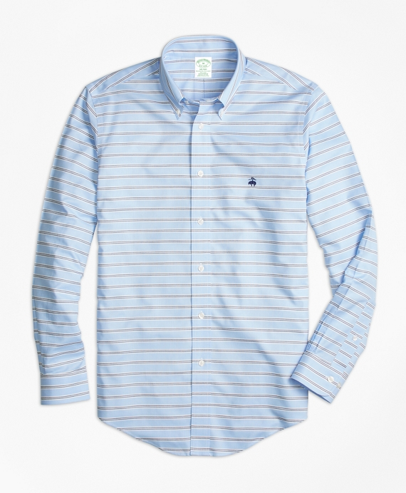 Non-Iron Milano Fit BB#1 Horizontal Stripe Sport Shirt