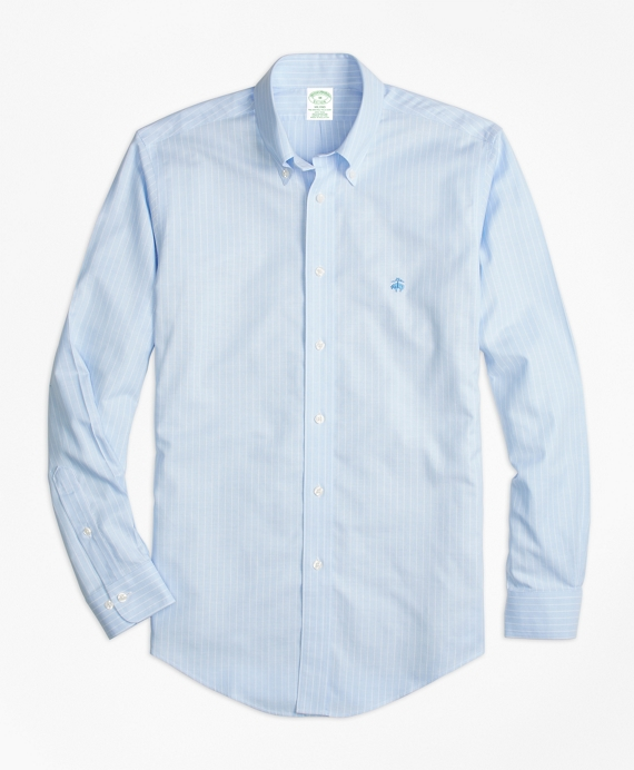 Non-Iron Milano Fit Oxford Stripe Sport Shirt