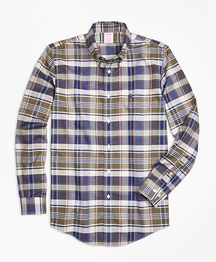 Non-Iron Madison Fit Multi-Plaid Sport Shirt
