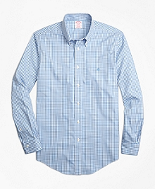 Non-Iron Madison Fit Gingham Sport Shirt