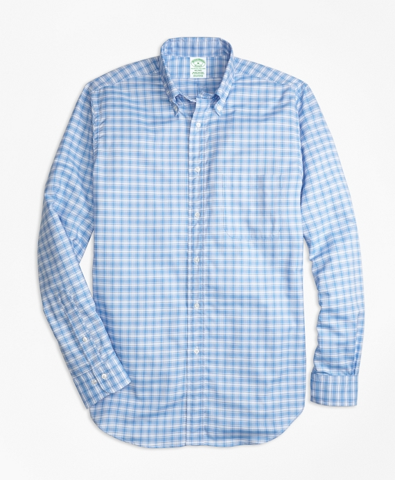 Milano Fit Oxford Check Sport Shirt Blue