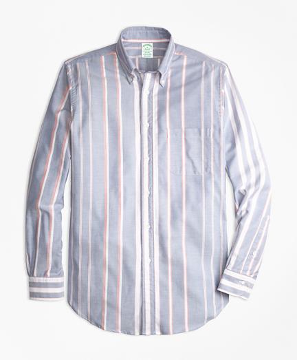 Milano Fit Oxford Bold Stripe Sport Shirt