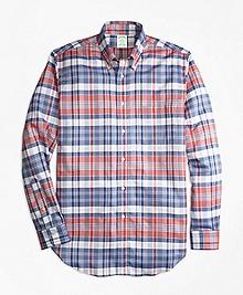 Milano Fit Oxford Madras Plaid Sport Shirt