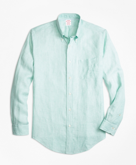 Madison Fit Irish Linen Sport Shirt by Brooks Brothers