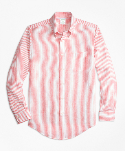 Milano Fit Stripe Irish Linen Sport Shirt