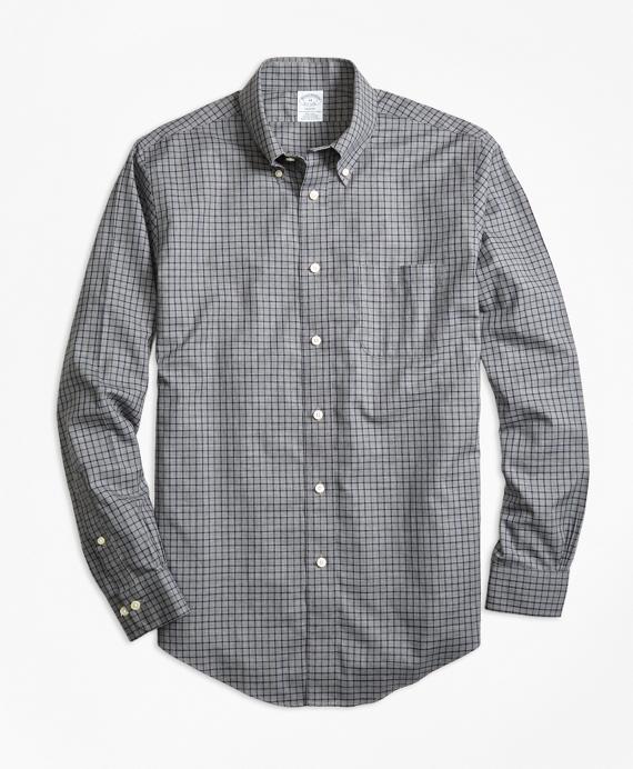 Non-Iron Regent Fit Herringbone Tattersall Sport Shirt
