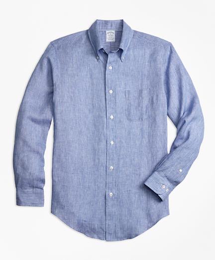Regent Fit End-on-End Irish Linen Sport Shirt