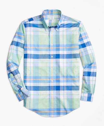 Non-Iron BrooksCool® Regent Fit Bold Plaid Sport Shirt
