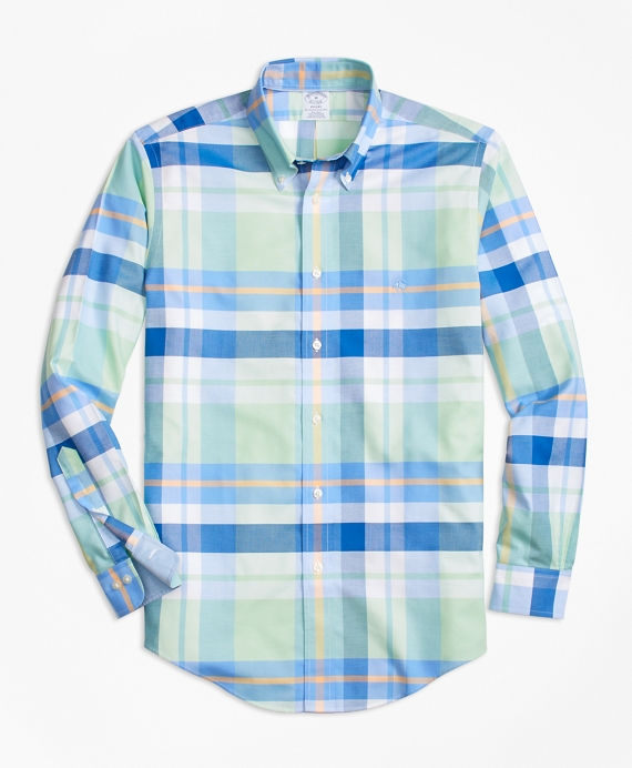 Non-Iron BrooksCool® Regent Fit Bold Plaid Sport Shirt