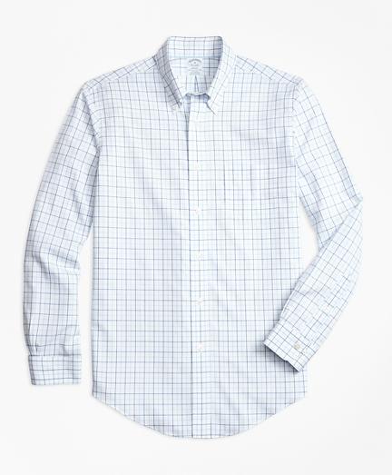 Non-Iron BrooksCool® Regent Fit Tonal Windowpane Sport Shirt