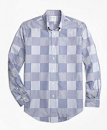 Regent Fit Dobby Patchwork Sport Shirt