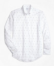 Regent Fit Palm Tree Print Sport Shirt