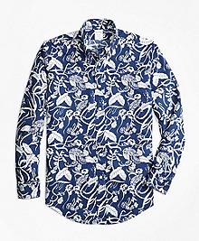 Regent Fit Tropical Print Sport Shirt