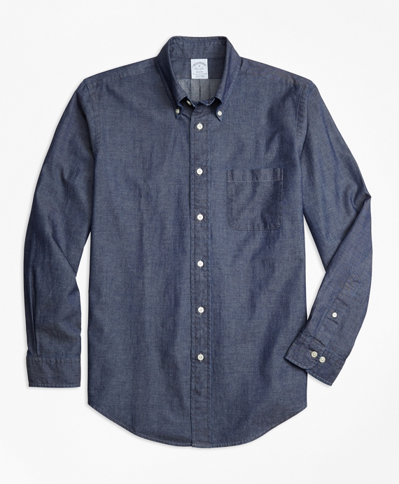 Regent Fit Indigo Chambray Sport Shirt