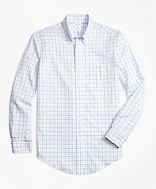 Non-Iron BrooksCool® Milano Fit Tonal Windowpane Sport Shirt