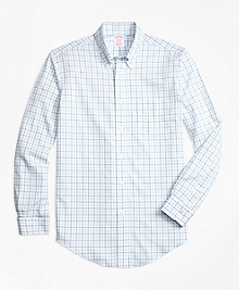 Non-Iron BrooksCool® Madison Fit Tonal Windowpane Sport Shirt