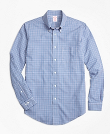 Non-Iron Madison Fit Small Check Sport Shirt