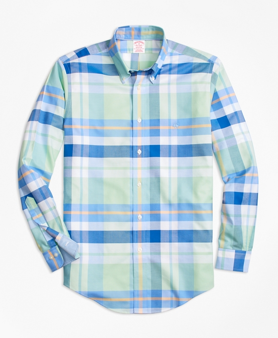 Non-Iron BrooksCool® Madison Fit Bold Plaid Sport Shirt Multi