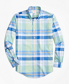 Non-Iron BrooksCool® Madison Fit Bold Plaid Sport Shirt