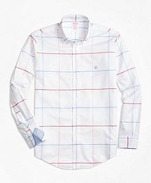 Non-Iron BrooksCool® Madison Fit Windowpane Sport Shirt
