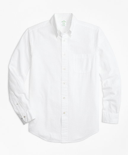 Milano Fit Seersucker Sport Shirt
