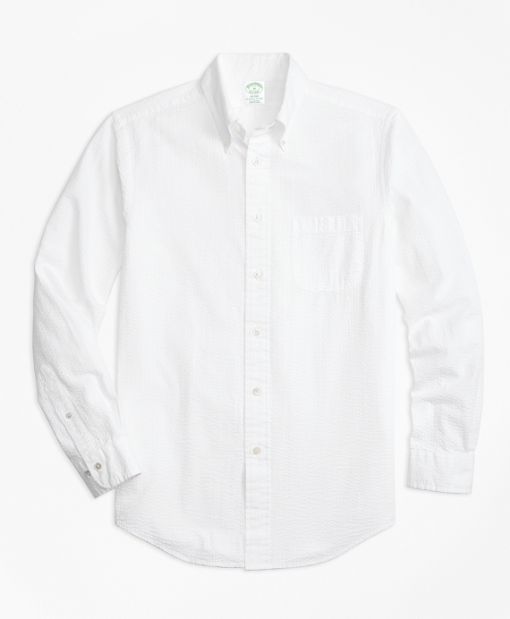 Milano Fit Seersucker Sport Shirt White