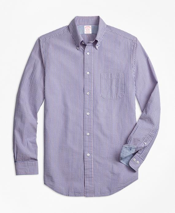 Madison Fit Stripe Seersucker Sport Shirt
