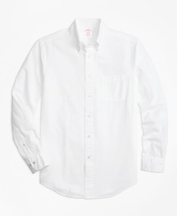 Madison Fit Seersucker Sport Shirt