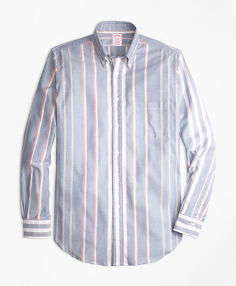 Madison Fit Oxford Bold Stripe Sport Shirt