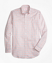 Madison Fit Oxford  Large Check Sport Shirt