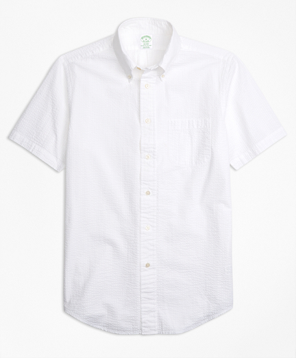 Milano Fit Seersucker Short-Sleeve Sport Shirt