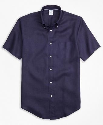 Regent Fit Irish Linen Short-Sleeve Sport Shirt