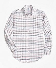 Regent Fit Oxford Multi-Check Sport Shirt