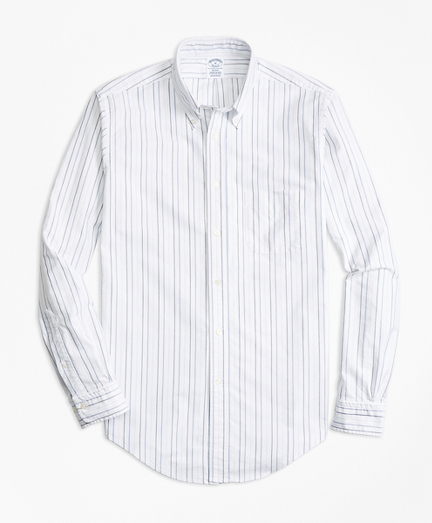 Regent Fit Oxford Multi-Stripe Sport Shirt
