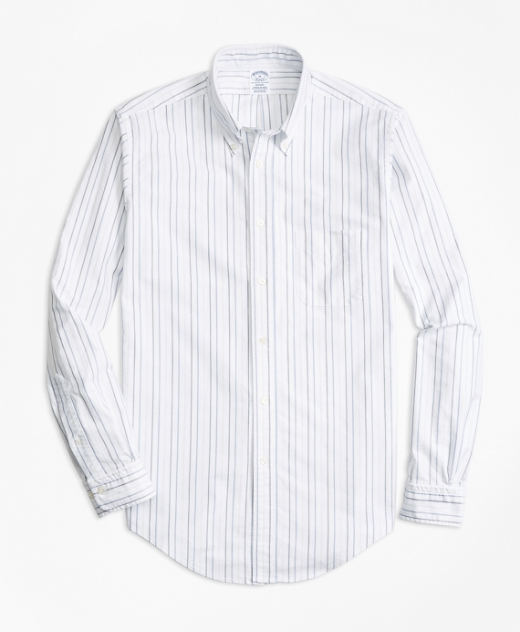 Regent Fit Oxford Multi-Stripe Sport Shirt Multi