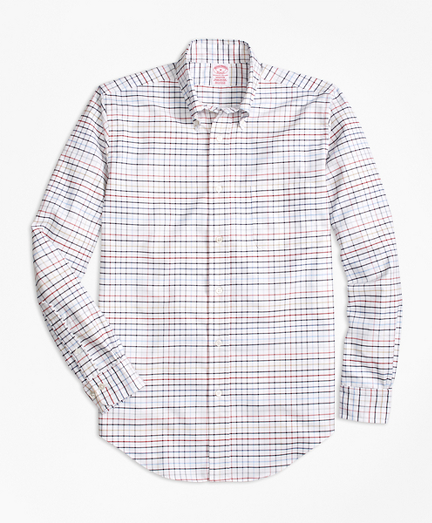 Madison Fit Oxford Multi-Check Sport Shirt