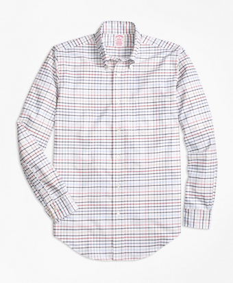 Madison Fit Oxford Multi-Check Sport Shirt