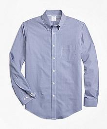 Non-Iron Regent Fit Micro-Gingham Sport Shirt