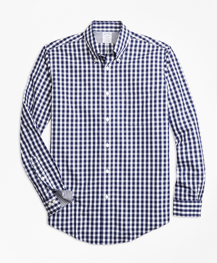 Non-Iron Regent Fit Gingham Sport Shirt